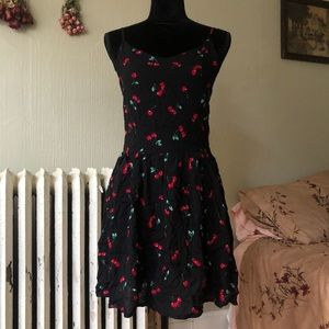 cherry print cami dress